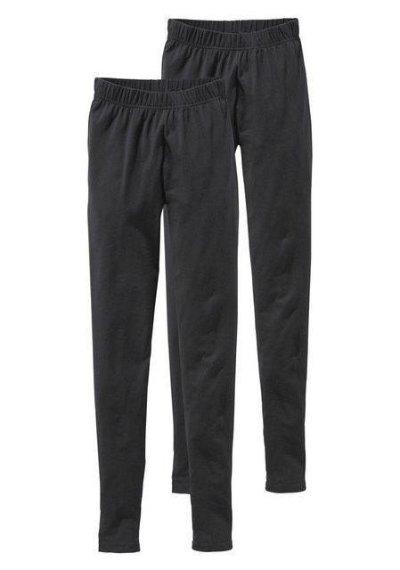 Hosen - Boysen's Leggings (Packung, 2er Pack) mit Baumwolle › schwarz  - Onlineshop OTTO