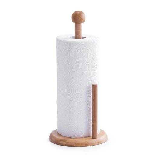 Neuetischkultur Küchenrollenhalter »Küchentuchständer mit Rolle Bambus«, (2-St)