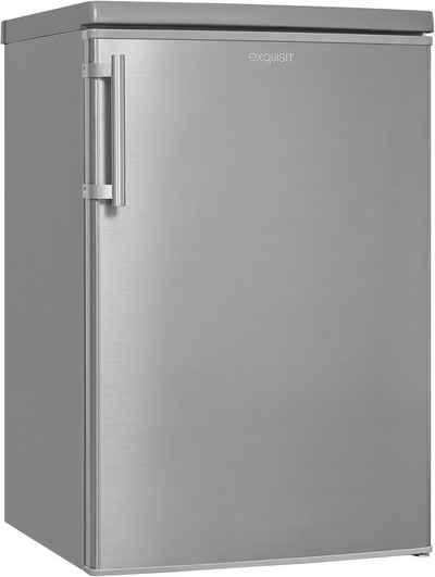 exquisit Kühlschrank KS16-4-HE-040D inoxlook, 85 cm hoch, 55 cm breit