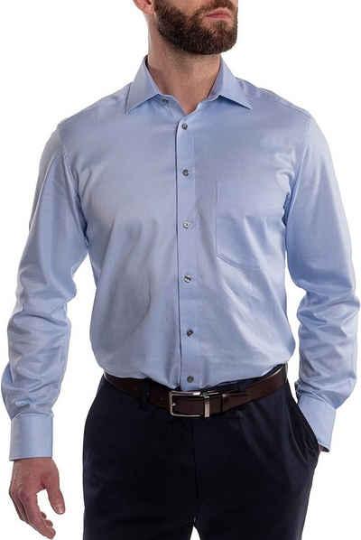 Hirschthal Businesshemd »Herren Businesshemd Hemd in Slim Fit und Regulär Fit, in vielen Farben und allen Größen« Langarm