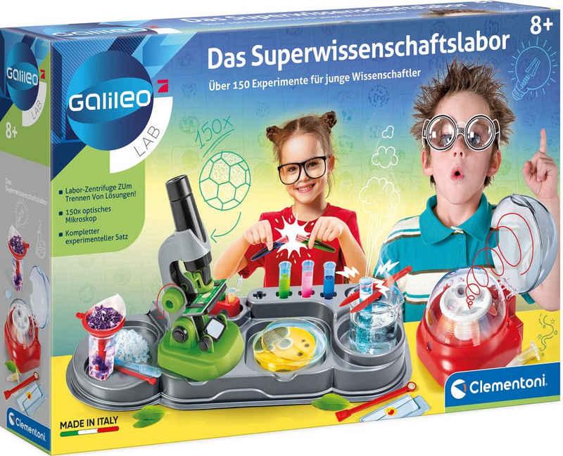 Clementoni® Experimentierkasten »Galileo Das Superwissenschaftslabor«, Made in Europe