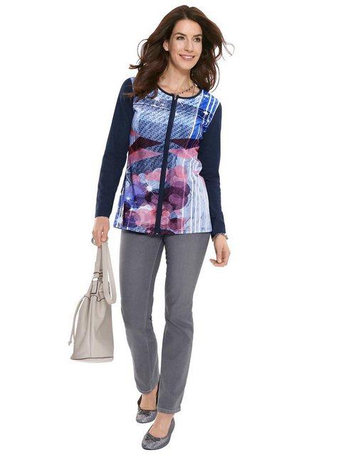 Hosen - Classic Basics High waist Jeans › grau  - Onlineshop OTTO