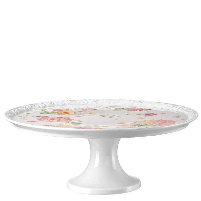 Rosenthal Tortenplatte »Maria Pink Rose Tortenplatte auf Fuß groß«, Porzellan