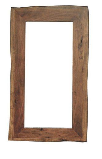 KAWOLA Garderobenspiegel »Loft Edge«, Akazie Massiv-Holz Baumkante