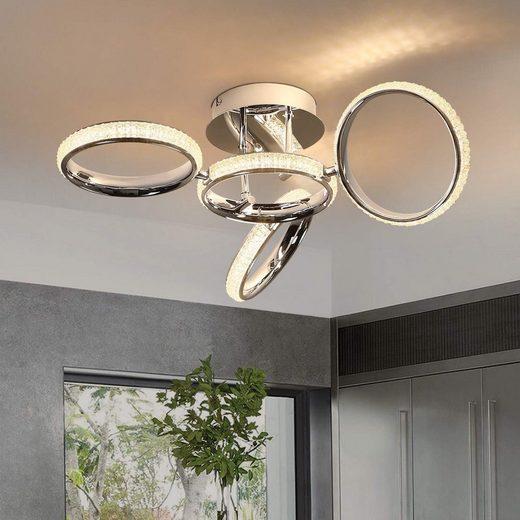 ZMH LED Deckenleuchte »Deckenlampe Wohnzimmer 39W Innen 3000K Warmweiß für Schlafzimmer Büro verstellbar Ring«