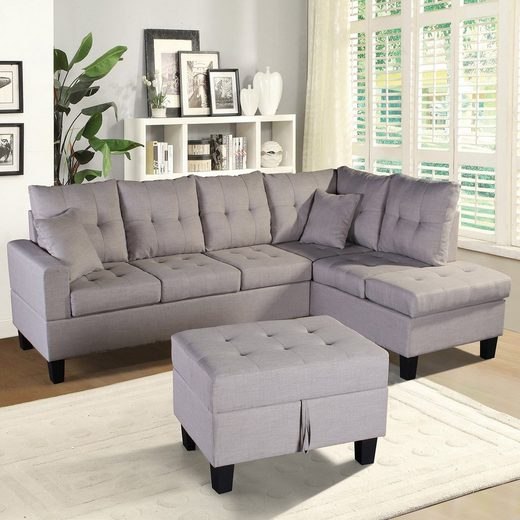 HOME DELUXE Sofa »Mailand«, 2 Teile, breite bequeme Sitzfläche