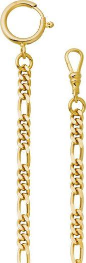 Regent Taschenuhr »URP048 Regent 5mm Taschenuhren-Kette P-48 Figaro«, Herren Taschenuhrkette, Edelstahl goldfarben, Elegant