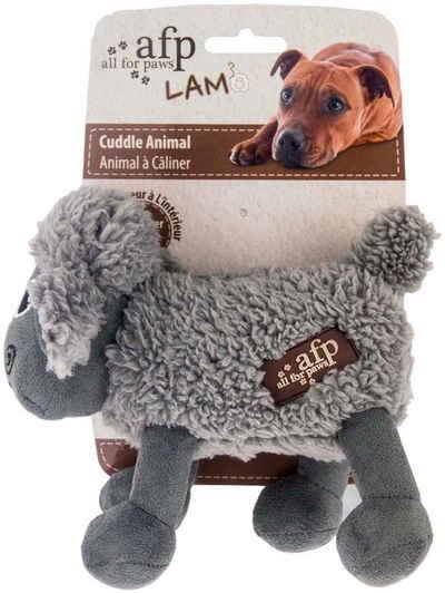 all for paws Tierkuscheltier »Cuddle Animals mit Lammfell«, Plüsch, (1-tlg) - Hundespielzeug - Schaf