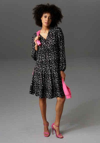 Aniston CASUAL Blusenkleid mit Blumendruck - NEUE KOLLEKTION