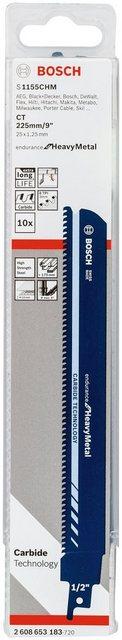 Bosch Professional Säbelsägeblatt S 1155 CHM, Endurance for Heavy Metall 10-St , Endurance for Heavy Metal