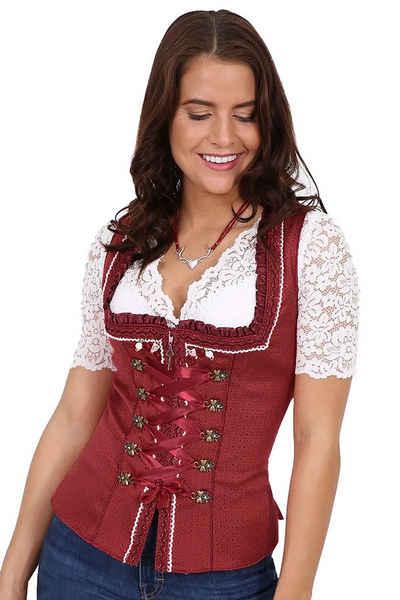 Moschen-Bayern Dirndl »Trachtenmieder Damen Trachtencorsage Dirndlmieder Corsage Mieder Trachten Festlich Rot« Mieder, Corsage, Trachtenmieder, Trachtencorsage