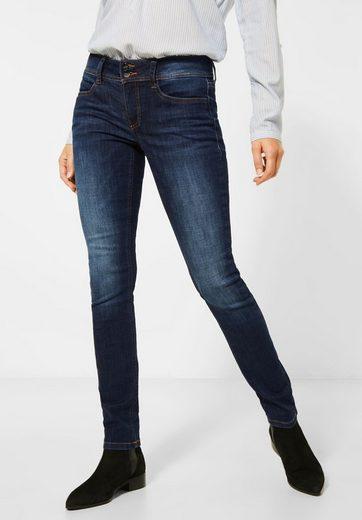 STREET ONE Slim-fit-Jeans aus recycelten PETs