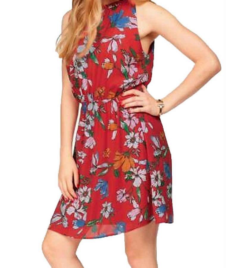 JACQUELINE de YONG Sommerkleid »JACQUELINE de YONG Kleid filigranes Damen Sommer-Kleid mit Schlitz Party-Kleid Rot«