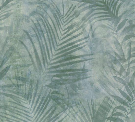 A.S. Création Vliestapete »Neue Bude 2.0 Tropical Concret mit Palmenblättern«, floral