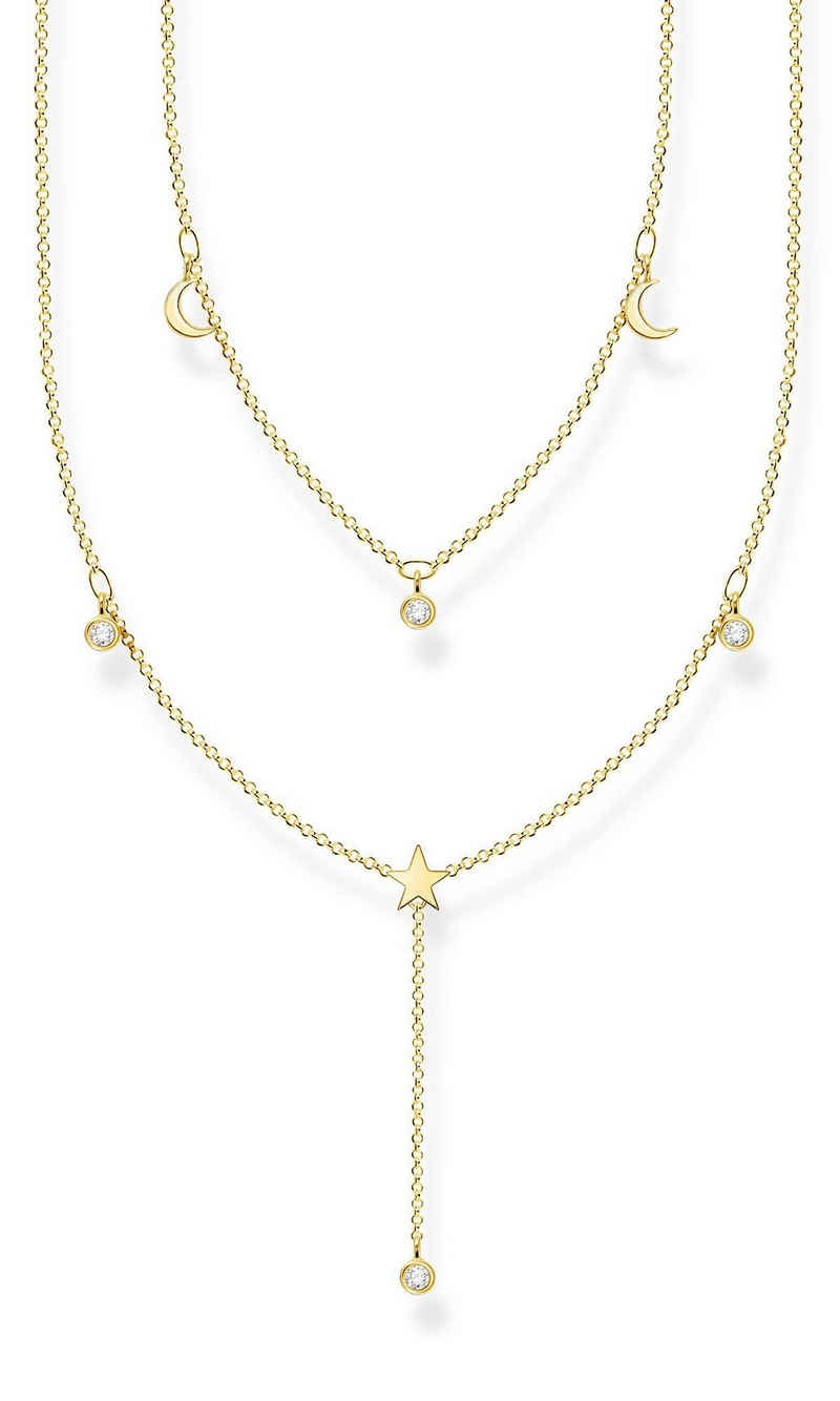 THOMAS SABO Collier »in Y-Form Silber goldfarben«