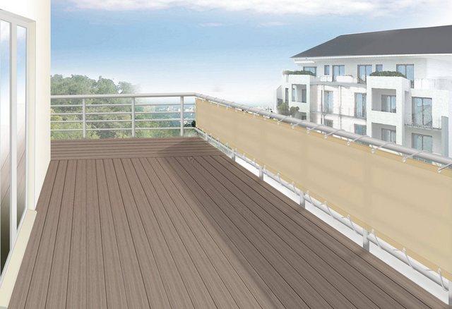 Floracord Balkonverkleidung Sisal 75 cm x 300 cm