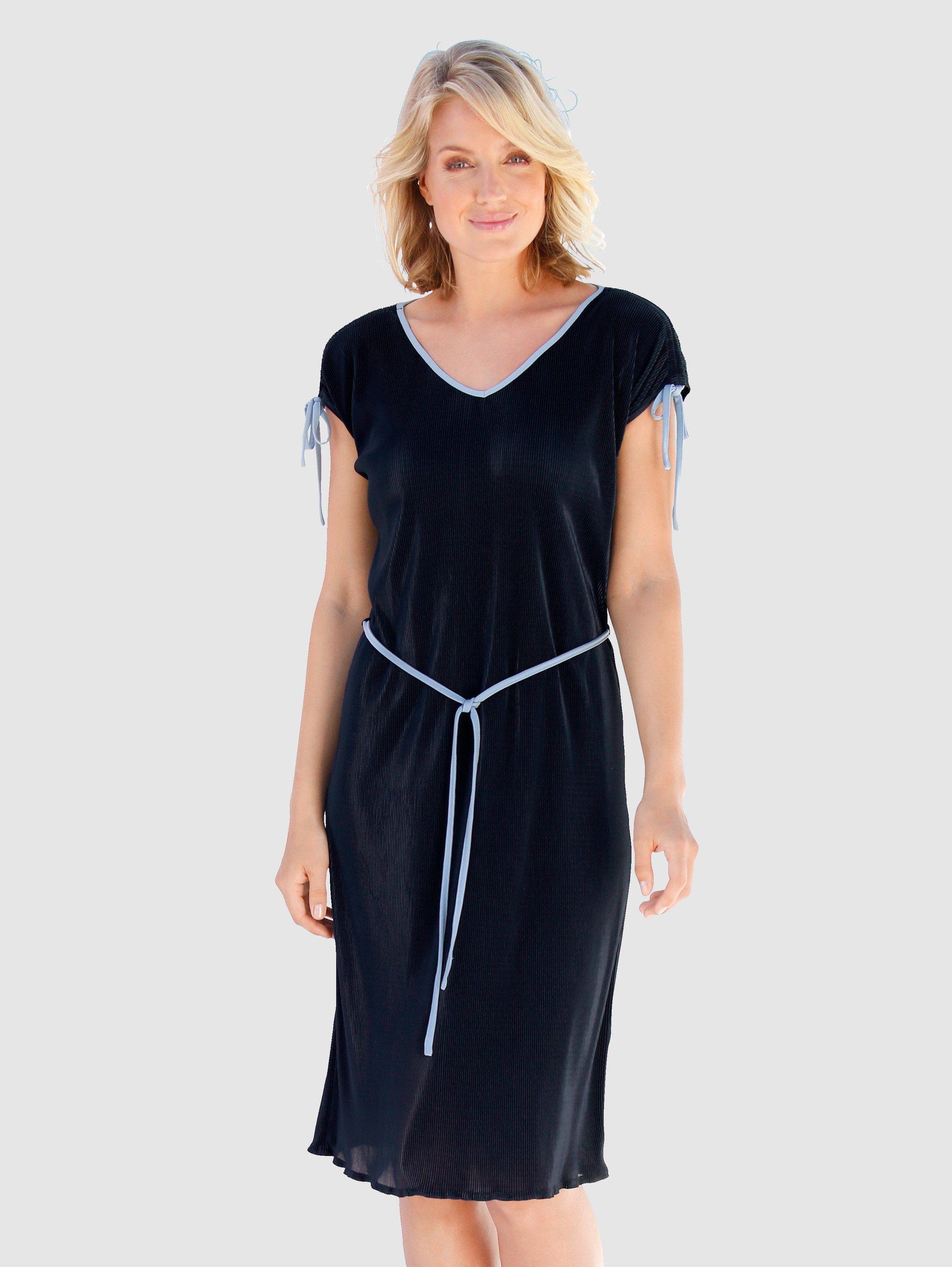 By Alina Damenkleid Jeanshemd Minikleid Jeanskleid Jeans Kleid Bluse Spitze XS-M