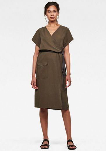 G-Star RAW Wickelkleid »Wrap Kleid« in Wickeloptik mit verstellbaren Gürtel