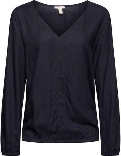 edc by Esprit Shirtbluse mit elastischen Saum- und Ärmelabschlüssen