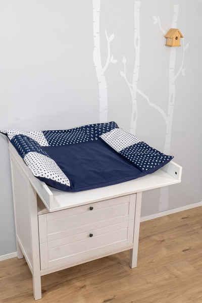 ULLENBOOM ® Wickelauflagenbezug »Wickelauflagenbezug Anker Blau 75x85 cm (Made in EU)«, Bezug mit Hotelverschluss, 100% Baumwolle