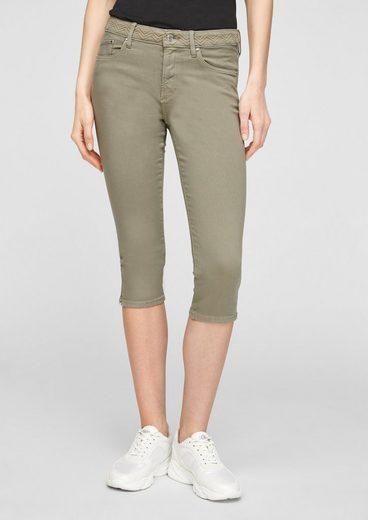 s.Oliver 7/8-Jeans »Hose 3/4« Stickerei, Leder-Patch