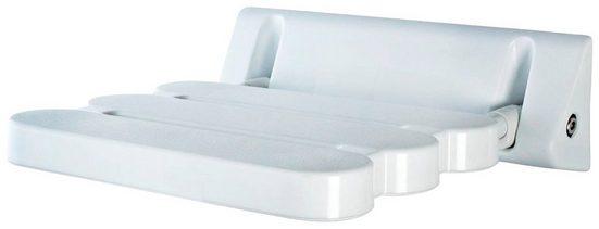 Duschklappsitz Duschhocker, belastbar bis 130.00 kg, Gewicht: 1,71 KG, mit handelsüblichen Reinigungs- und Desinfektionsmitteln zu reinigen