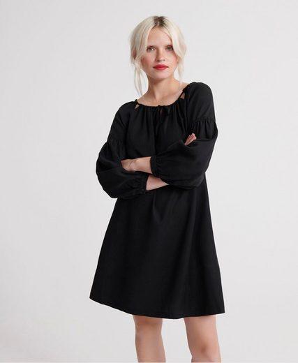 Superdry Off-Shoulder-Kleid »ARIZONA PEEK A BOO DRESS« mit Schnür-Detail im Ausschnitt