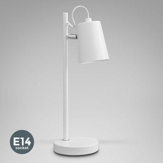 B.K.Licht LED Tischleuchte, LED Tischleuchte E14 im skandinavischen Design