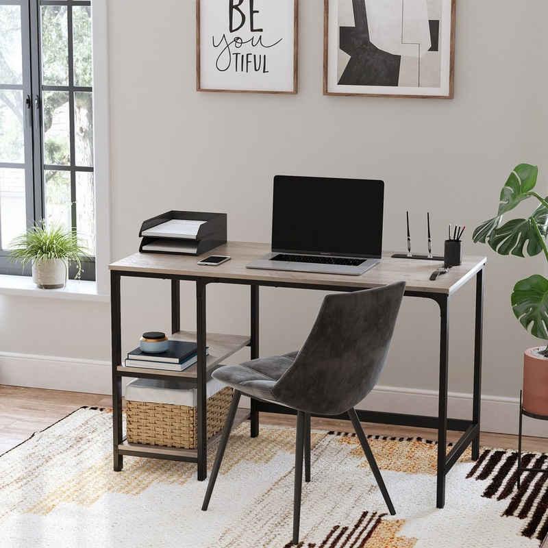 VASAGLE Schreibtisch »LWD47X LWD47MB«, Schreibtisch, Computertisch, Bürotisch, Industrie-Design, greige