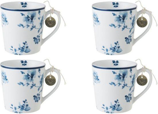 LAURA ASHLEY BLUEPRINT COLLECTABLES Becher »China Rose«, Porzellan, 4-teilig