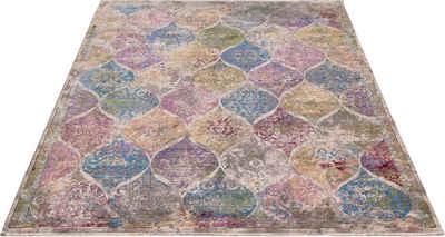 Teppich »Colorful 24021«, merinos, rechteckig, Höhe 7 mm, Wohnzimmer
