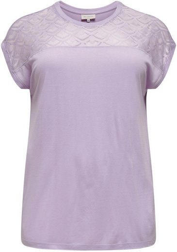 ONLY CARMAKOMA Longshirt »CARFLAKE« vorn in Spitzenoptik