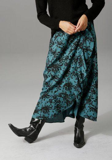 Aniston CASUAL Maxirock in unterschiedlichen Blumendrucken