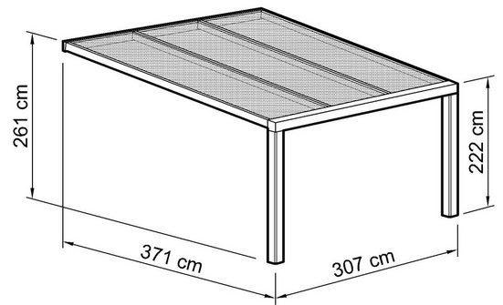 Beckmann Terrassendach »Exklusiv 7«, BxT: 307x371 cm, mit Regenrinne