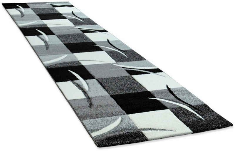 Läufer »Diamond 665«, Paco Home, rechteckig, Höhe 17 mm, Teppich-Läufer, Kurzflor, gewebt, 3D-Design, Karo Muster