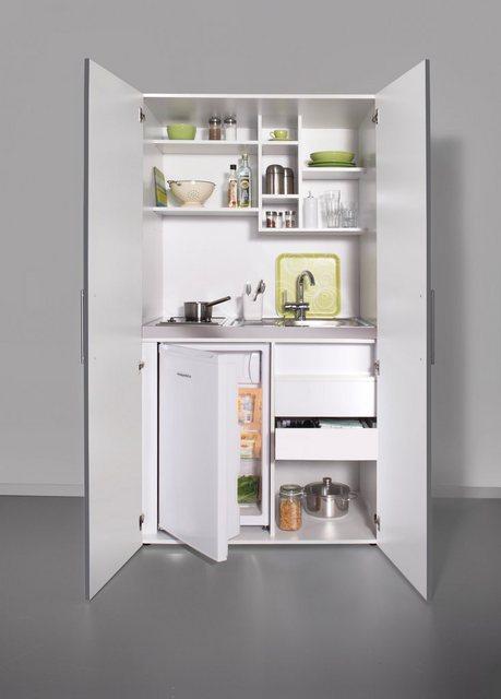Schrankküche mit Glaskeramik-Kochfeld und Kühlschrank | Küche und Esszimmer > Küchen > Miniküchen | OTTO