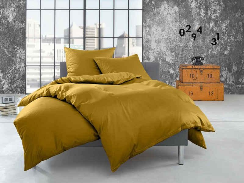 Bettwäsche »Feinflanell Bettwäsche uni einfarbig«, BETTWAESCHE-MIT-STIL