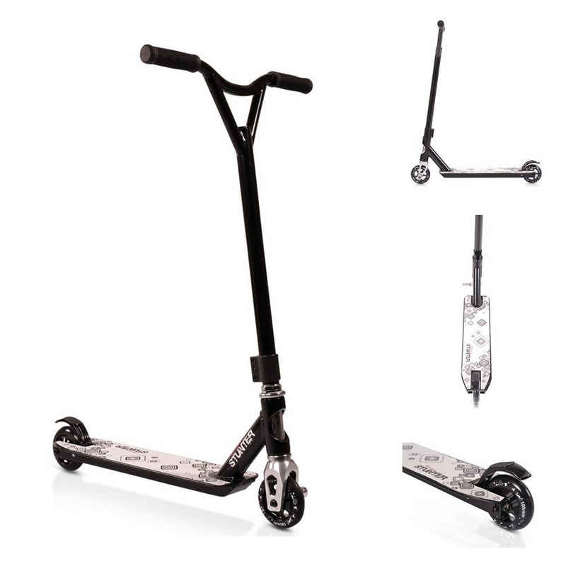 Byox Cityroller »Kinderroller Stunter«, Aluminium PU Räder ABEC-9 Lenker 360° drehbar Bremse