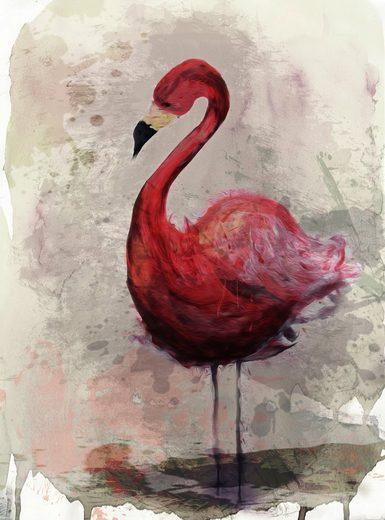 living walls Fototapete »ARTist Flamingo«, (Set, 2 St), Vlies, glatt