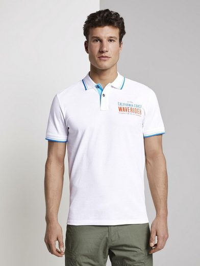 TOM TAILOR Poloshirt »Poloshirt mit Schrift-Print«