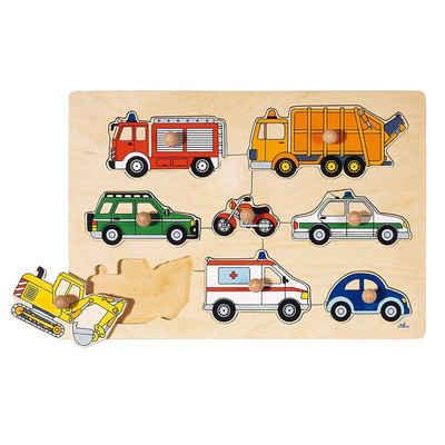 goki Steckpuzzle »Steckpuzzle Verkehrsmittel«, Puzzleteile