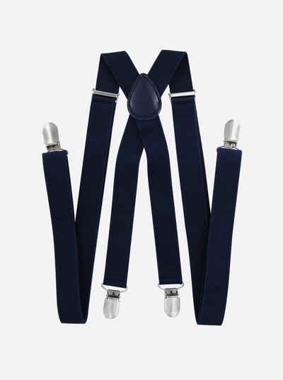 axy Hosenträger Herren Hosenträger 4 Stabile Clips X-Form 2,5cm Breit verstellbar und elastisch 120cm Lang