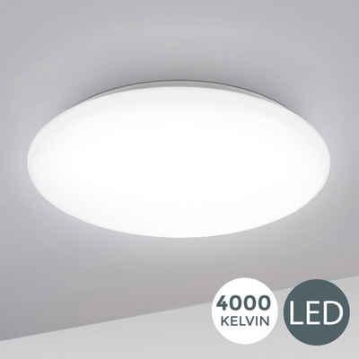 B.K.Licht LED Deckenleuchte »Leonis«, LED Deckenlampe 28cm 12W Wohnzimmer Design-Lampe Leuchte Weiß