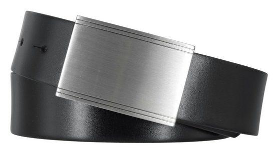 MONTI Ledergürtel »Monti Businessgürtel schwarz 35 mm Koppelgürtel«