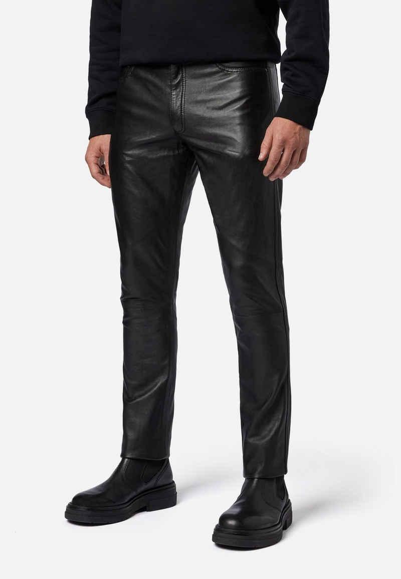 RICANO Lederhose »No. 3 TR – Slim Fit« Hochwertiges Lamm Leder - 5-Pocket Stil / Lederjeans