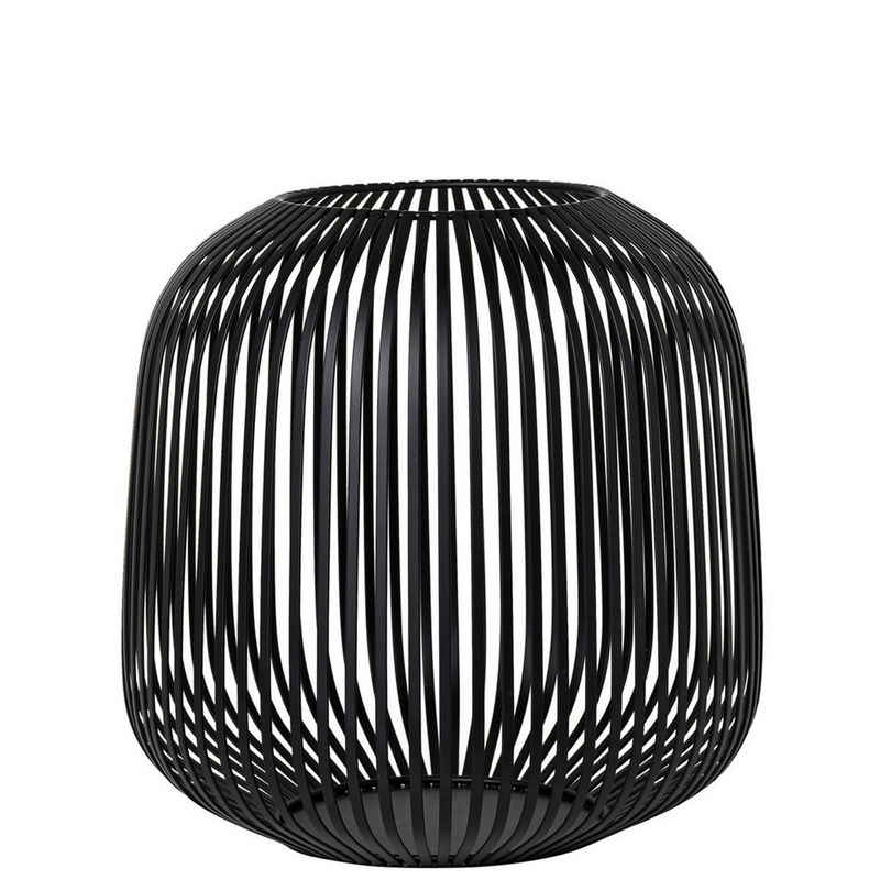 BLOMUS Laterne »LITO Schwarz Medium H 27 cm; Modernes Indoor Windlicht«