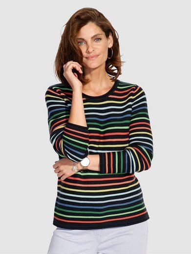 Mona Pullover mit farbenfrohem Ringeldessin