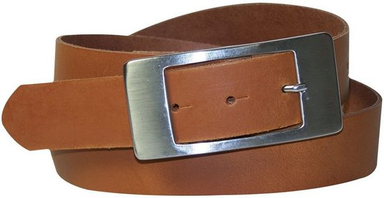 FRONHOFER Taillengürtel »18263« klassischer Damengürtel Echtledergürtel 3,5 cm Dornschließe rechteckig