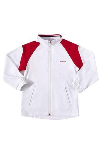 Head Softshelljacke »HEAD Softshell-Jacke funktionelle Kinder Sport-Jacke Club Cooper Junior All Season Jacket Kinder-Jacke Weiß/Rot«