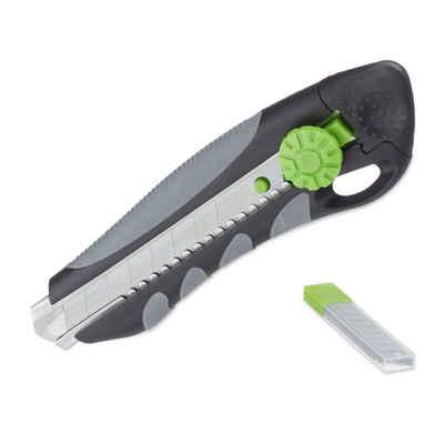 relaxdays Teppichmesser »PROFI Cuttermesser mit Ersatzklingen«